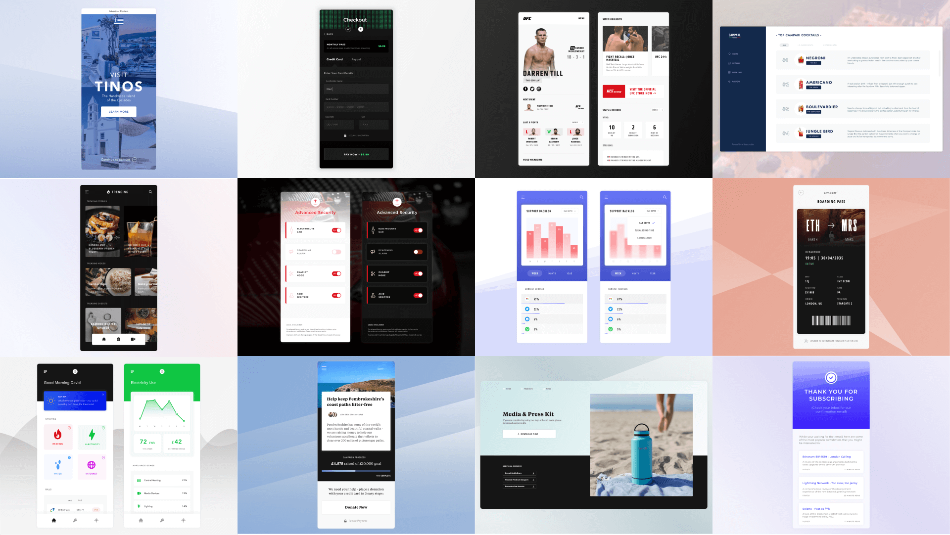 Daily UI 2021 - Curated Favourites